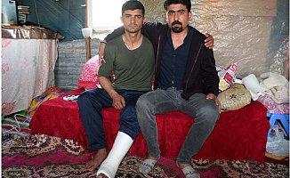 Afrin'de Ayağı Kırılan Uzman Çavuşu, Gazi Ağabeyi Karşıladı