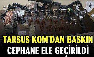 Tarsus'ta Gece Yarısı 2 Adrese Eşzamanlı Operasyon