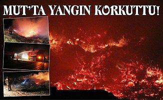 Gölet Kenarında Çıkan Yangın Korkuttu.