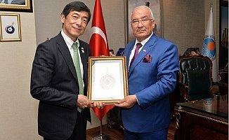 Japonya Ankara Büyükelçisi Akio Miyajima, Kocamaz'ı Ziyaret Etti