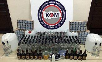 Mersin'de Evde Sahte İçki İmalatına Polis Baskını