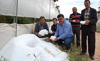 Mersin'de Çiftçiyi Dolu Vurdu