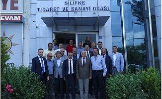 MTSO Yönetimi İlçeleri Ziyaret Etti