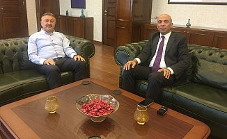 AK Parti'li Özkan'dan Emniyet Müdürü Şahne'ye Ziyaret