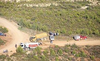 Gülnar'daki Orman Yangınında Soğutma Çalışması Yapılıyor