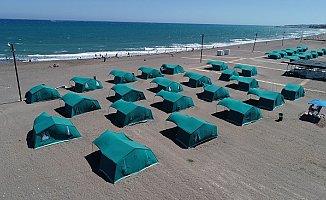 Kocahasanlı Halk Plajı Kamp Alanı Vatandaşların Uğrak Adresi Oldu
