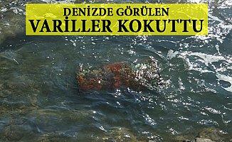 Bozyazı'da Denizde Görülen Variller Jokuttu.