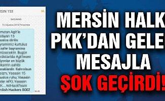 Mersin'de Cep Telefonlarına SMS ile PKK Propagandası