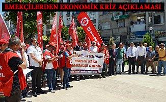Mersin'de Emekçilerden Ekonomik Krizin Sorumlularına Tepki