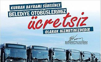 Mersin'de Kurban Bayramında Belediye Otobüsleri Ücretsiz