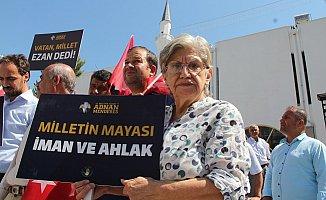 Adnan Menderes'in idamına Mersin'den tepki