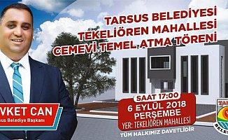 Tekeliören'e Cemevi Temeli Tarsus'ta Atılıyor