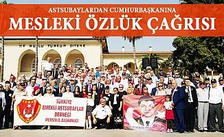 Mersin'de Emekli Astsubaylardan Özlük Hakkı Talebi