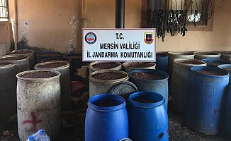 Mersin'de 18 Bin Litre Boğma Rakı Ele Geçirildi