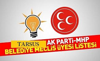 İşte MHP Tarsus  Belediye Meclis Aday Listesi