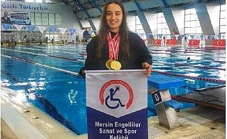 Mersinli Yüzücü Miray'dan Türkiye Şampiyonası'ndan Derece