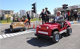 Erdemli'de Trafik Eğitim Parkuru Açıldı