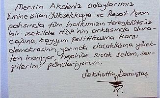 Selahattin Demirtaş, Cezaevinden Akdeniz Halkına Seçim Mesajı Gönderdi.
