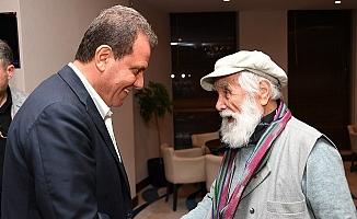 Başkan Seçer, Hattat, Ressam ve Gazeteci Ethem Çalışkan İle Bir Araya Geldi