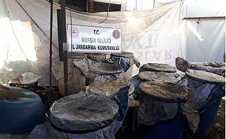Tarsus'ta 3 Bin Litre Kaçak İçki Ele Geçirildi