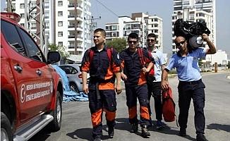 Mersin itfaiyesinden Engin Eroğlu'nu Arama-Kurtarma Çalışmalarına Destek