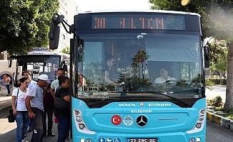 Mersin'de Bugün 15 Temmuz'da Toplu Taşıma Ücretsiz