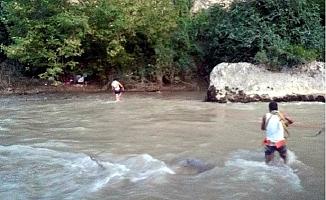Irmak Suyu Yükselince Mahsur Kalan Piknikçileri İtfaiye Kurtardı