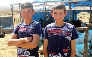 Mersin'de Çobanlık Yapan İkizler Fen Lisesini Kazandı