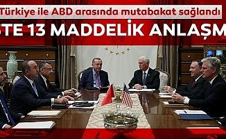 ABD ve Türkiye'den Ortak Açıklama! İşte 13 Maddelik O Anlaşma!