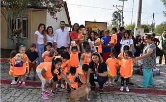 Minik Öğrenciler, Sokak hayvanlarına Mama Aldı