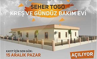 Tarsus Belediyesi Seher Togo Kreşi Açılıyor