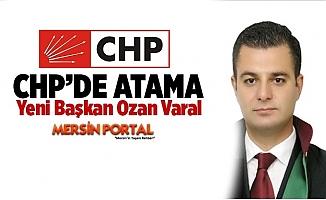 CHP Tarsus İlçe Başkanlığına Geçici Olarak Ozan Varal Atandı