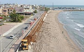 Karaduvar Sahilinde İyileştirme Çalışmaları Devam Ediyor