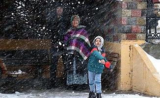 Çamlıyayla'da Eğitime Yoğun Kar Nedeni İle Ara Verildi