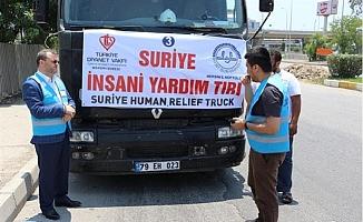 Mersin'den İdlib'e 20 Tır Yardım Konvoyu