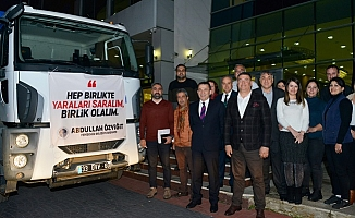 Yenişehir'den Deprem Bölgesine Yardım Gönderildi