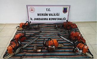 Anamur'da Çalıştığı İş Yerinden Motorlu Testere Çalan Zanlı Yakalandı