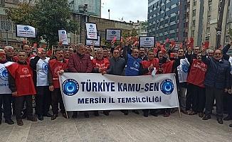 İşçilerden Belediye Başkanına 'Kırmızı Kart'