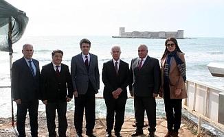 KKTC 3'ncü Cumhurbaşkanı Derviş Eroğlu Erdemli'de