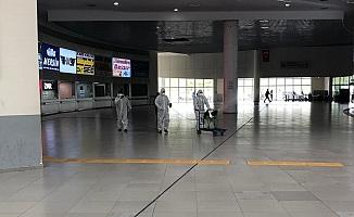 Şehirlerarası Otobüs Terminali Dezenfekte Ddildi