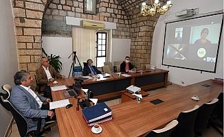 Büyükşehir'de Encümen Toplantısı Videokonferans İle Yapıldı