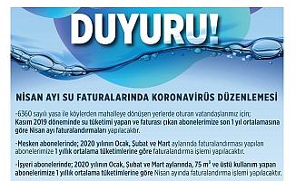 Mersin'de Nisan Ayı Su Faturalarında Korona Virüs Düzenlemesi