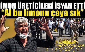 Mersin'de Limon Üreticileri Yol Kapatıp Eylem Yaptı