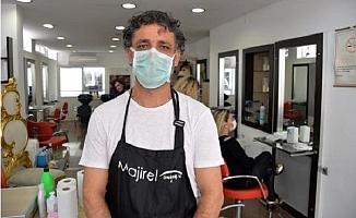 Mersinli Kuaförden Sağlık Çalışanlarına Ücretsiz Hizmet