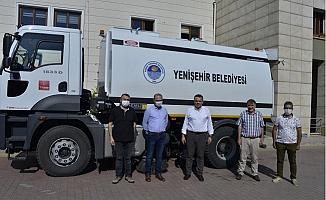 Belediyeler Birliğinden Yenişehir Belediyesine Temizlik Aracı Hibesi