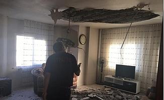Evin Tavanında Göçük Oluştu, 2 Çocuk Yaralandı