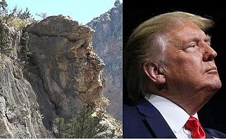 Silifke'de Donald Trump'a Benzetilen Dev Kaya