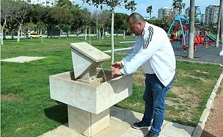 Mersin'de Parklara Su Tasarrufu Sağlayan Çeşme