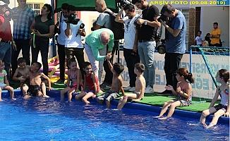 Akdeniz'de Okul Bahçelerine Yüzme Havuzu Kuruldu.