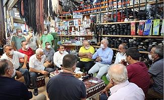 Başkan Gültak, Tarihi Zafer Çarşısı Esnafını Ziyaret Etti.